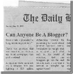 blogging newspaper