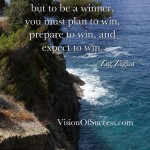 You were born to win, but to be a winner, you must plan to win, prepare to win, and expect to win. Zig Ziglar